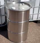 110 Litre New Stainless Steel Clamp Top Drum